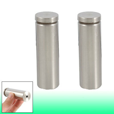 2 Pcs 25mm x 80mm Advertisement Nails Box Screws Glass Standoff Pins