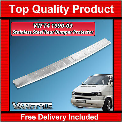 Vw T4 Transporter 1990-03 Rear Bumper Protector Polished Stainless Steel Chrome