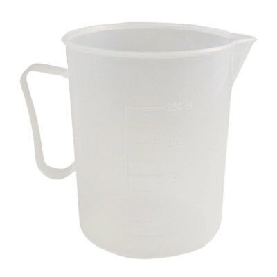 Measuring Jug 8 OZ Graduated Beaker Clear White Plastic Cup