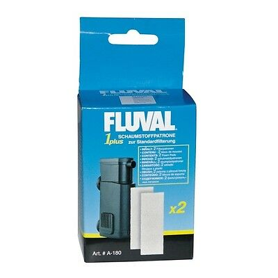 Fluval 1-plus Schaumstoffpatrone 2er Pack
