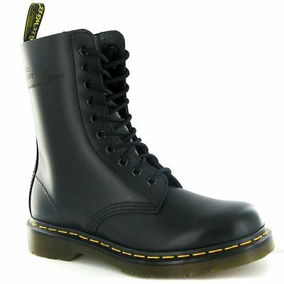 Dr.Martens 1490Z Black Smooth Leather Mens Boots