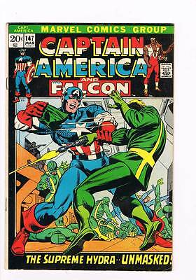 Captain America # 147 Supreme Hydra grade 5.0 scarce book !!