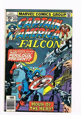 Captain America # 221 Cul De-Sac ! grade 3.5 hot book !!