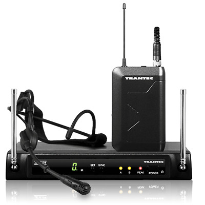 Trantec S4.04A HM-33 UHF Headset Wireless Radio Microphone Multi Freq System Mic