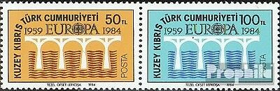 Turkish-Cyprus 142-143 Couple (complete issue) used 1984 Europe
