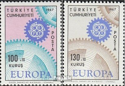 Turkey 2044-2045 (complete issue) unmounted mint / never hinged 1967 Europe