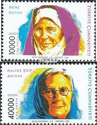 Turkey 3074-3075 (complete issue) unmounted mint / never hinged 1996 Famous Wome