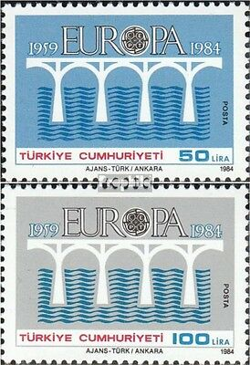 Turkey 2667-2668 (complete issue) unmounted mint / never hinged 1984 CEPT