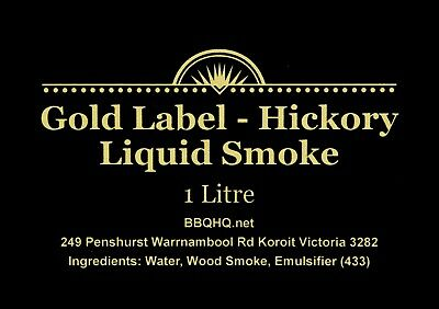 GIANT One Litre - Value - Liquid Smoke - TOP Grade - Hickory Smoke EXPRESS Ship