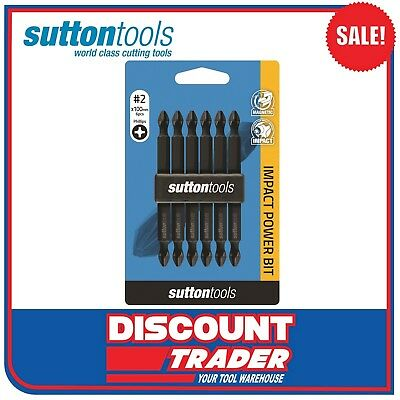 Sutton Tools 6 Piece PH2 100mm Phillips Impact Power Bit Set S10512100