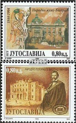 Yugoslavia 2652-2653 (complete issue) unmounted mint / never hinged 1994 Nationa