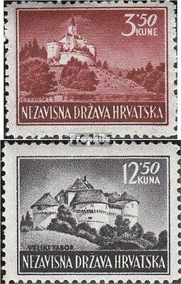 Croatia 98-99 (complete issue) unmounted mint / never hinged 1943 Postage stamp