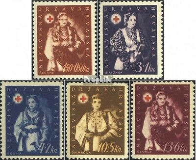 Croatia 86-90 (complete issue) unmounted mint / never hinged 1942 Red Cross