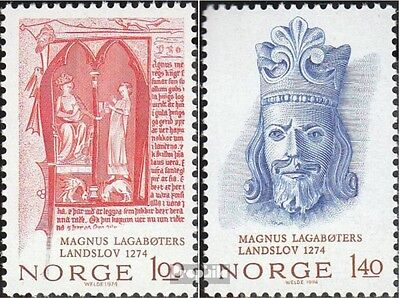 Norway 683-684 (complete issue) unmounted mint / never hinged 1974 King Magnus l