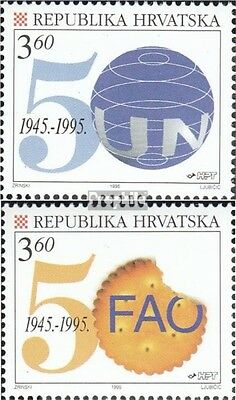 Croatia 347-348 (complete issue) unmounted mint / never hinged 1995 UN and fao