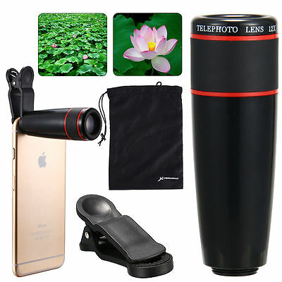 Universal 12X Telephoto Zoom Camera Lens For iPhone 4S 5 5C 5S 6 Plus DC602