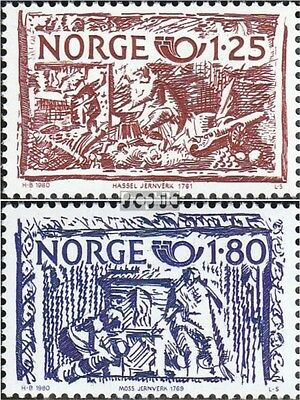 Norway 821-822 (complete issue) unmounted mint / never hinged 1980 Craftsmanship