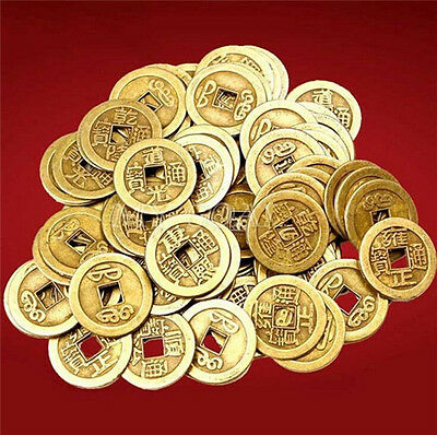 FD3827 Feng Shui Lucky Chinese Fortune Coin Oriental Emperor Qing Money 10PCs ☆