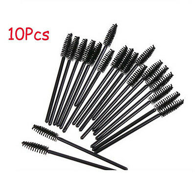 10Pc Makeup Beauty Oblique Design Rotate Eyebrow Brush Cosmetic Brow Brush Tool