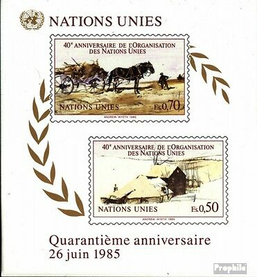 UN-Geneva block3 (complete issue) unmounted mint / never hinged 1985 40 years UN