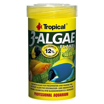 Tropical 3-Algae Flakes - feines, algenreiches Flockenfutter