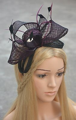 Womens Fascinator Cocktail Hat Wedding Kentucky Derby Church Wedding Party A334