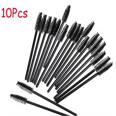 New 10PCS Makeup Tool Oblique Design Rotate Eyebrow Brush Cosmetic Brow Brush FT