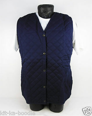 Navy Unisex Quilted Bodywarmer Horse Riding Country Equestrian Gilet Large SN19