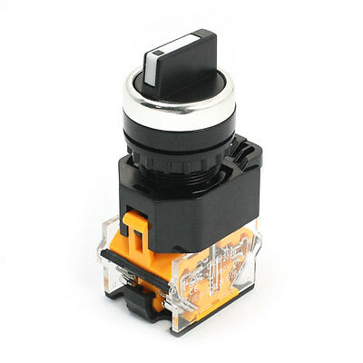 DPST NO/NC 3 Selector Position Rotary Switch 380V Ue 10A Ie