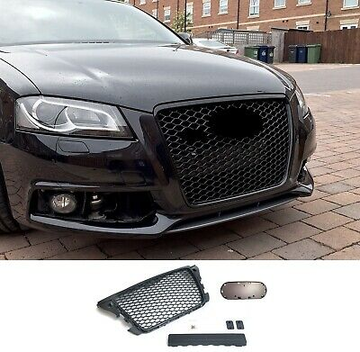 Für Audi A3 8P Kühlergrill Wabengrill Sport Front Tuning Grill Emblem RS