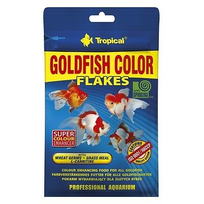 Tropical Goldfish Color Flakes - Farbförderndes Goldfischfutter