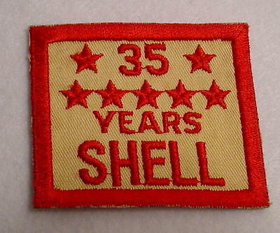 Shell Oil 35 Years Service Patch-Unused-Embroidered-Vintage