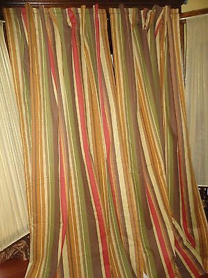 Image result for green and peach stripe curtain