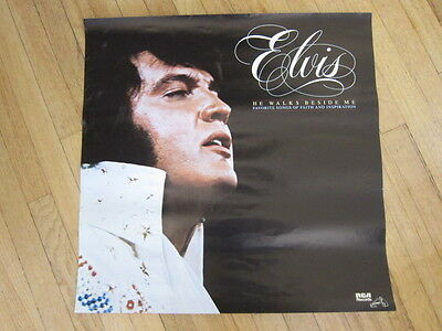 ELVIS PRESLEY He Walks Beside Me 1978 Promo poster 22x22