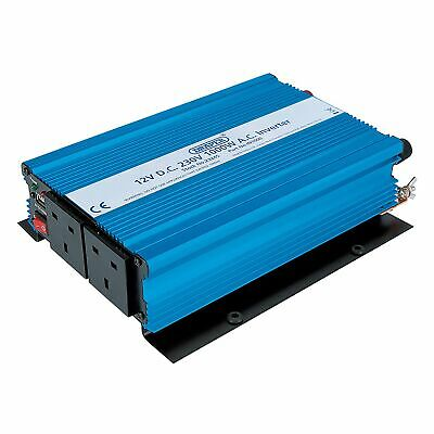 Draper 1000W (1kW) 12V DC To 230V AC (DC-AC) Electrical Inverter - 23245