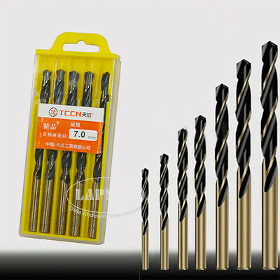 "1/8""-8.5mm Hole Saw Metalworking Twist Hard Metal HSS Drill Bit Set Tool F Steel"