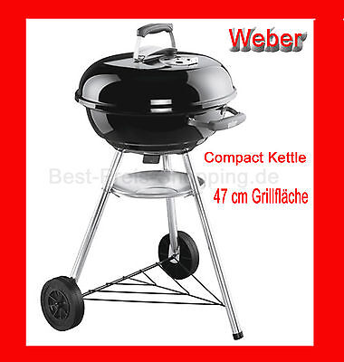 weber compact kettle 57cm freestanding grill eur 100 00 picclick de. Black Bedroom Furniture Sets. Home Design Ideas