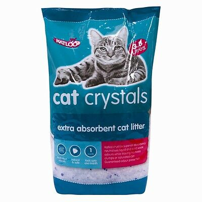 Katloo Cat Kitten Litter Crystals 3.8 Lt  Bacterial Odour Absorbed