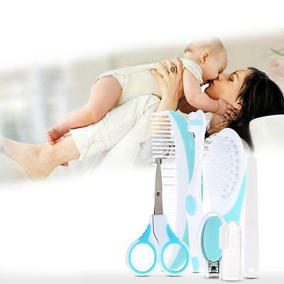 7pcs Newborn Baby Nail Clipper Toothbrush Hair Brush Comb Grooming Kit Set G3C1