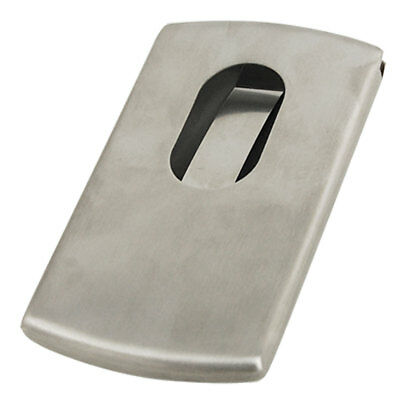 Stainless Steel Pocket Case Name Credit ID Business Card Holder Silver Tone