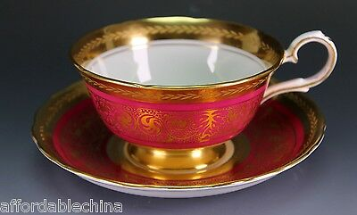 Royal Chelsea Midas Bone China England Cup and Saucer Excellent