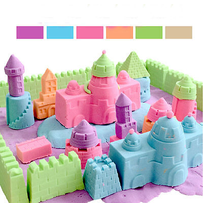 Rainbow Color Magic Sand Kid DIY Indoor Play Safety Toy Craft Non Toxic