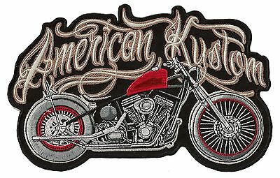 Patche dorsal écusson brodé (dos) grande taille American Kustom patch grand