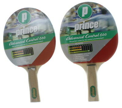 Set of 2 Prince Ping Pong Paddle Table Tennis Rackets Advanced Control 600 Game