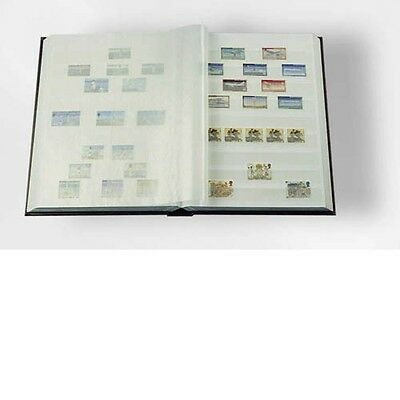 LIGHTHOUSE 317849 Stockbook A4, 64 white pages,divided, non-padded cover, blue