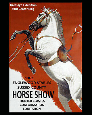 1953 Horse Show Dressage European  Vintage Poster Repro FREE S//H in USA