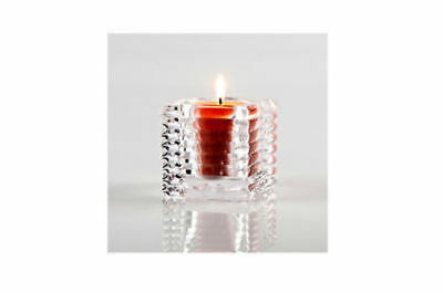 12 x Glass Candle Holder ribbed 7.5cm Bulk Wholesale lot reduced to clear