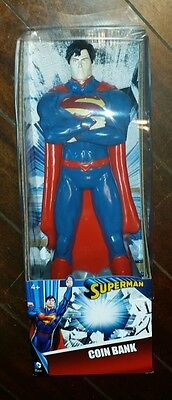 "DC Comics SUPERMAN 14"" Vinyl Figure Coin Bank! Brand New! Free Shipping!"