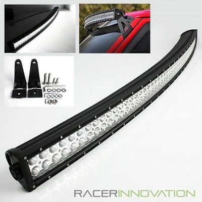 """50"""" Inch Curved 288W Offroad 96 LED Light Bar Jeep/4x4/Truck Roof Rack Work Lamp"""