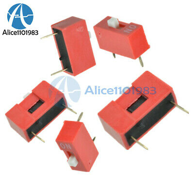100Pcs Slide Type Switch Module 1-Bit 2.54mm 1 Position Way DIP Red Pitch